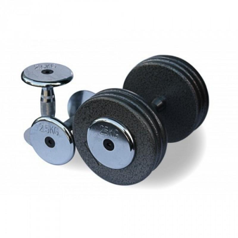 Гантельный ряд от 2.5 до 25кг (10 пар) Fitnessport FDS-05 2,5/25kg